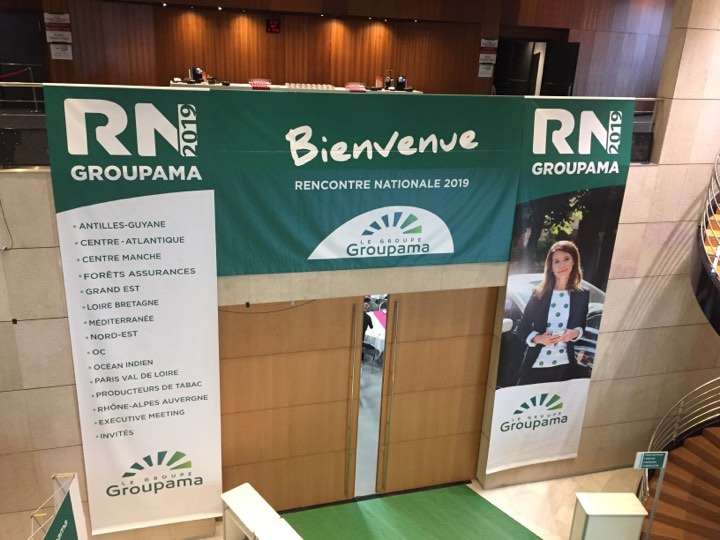 Bâches et adhésivage – Groupama Dijon