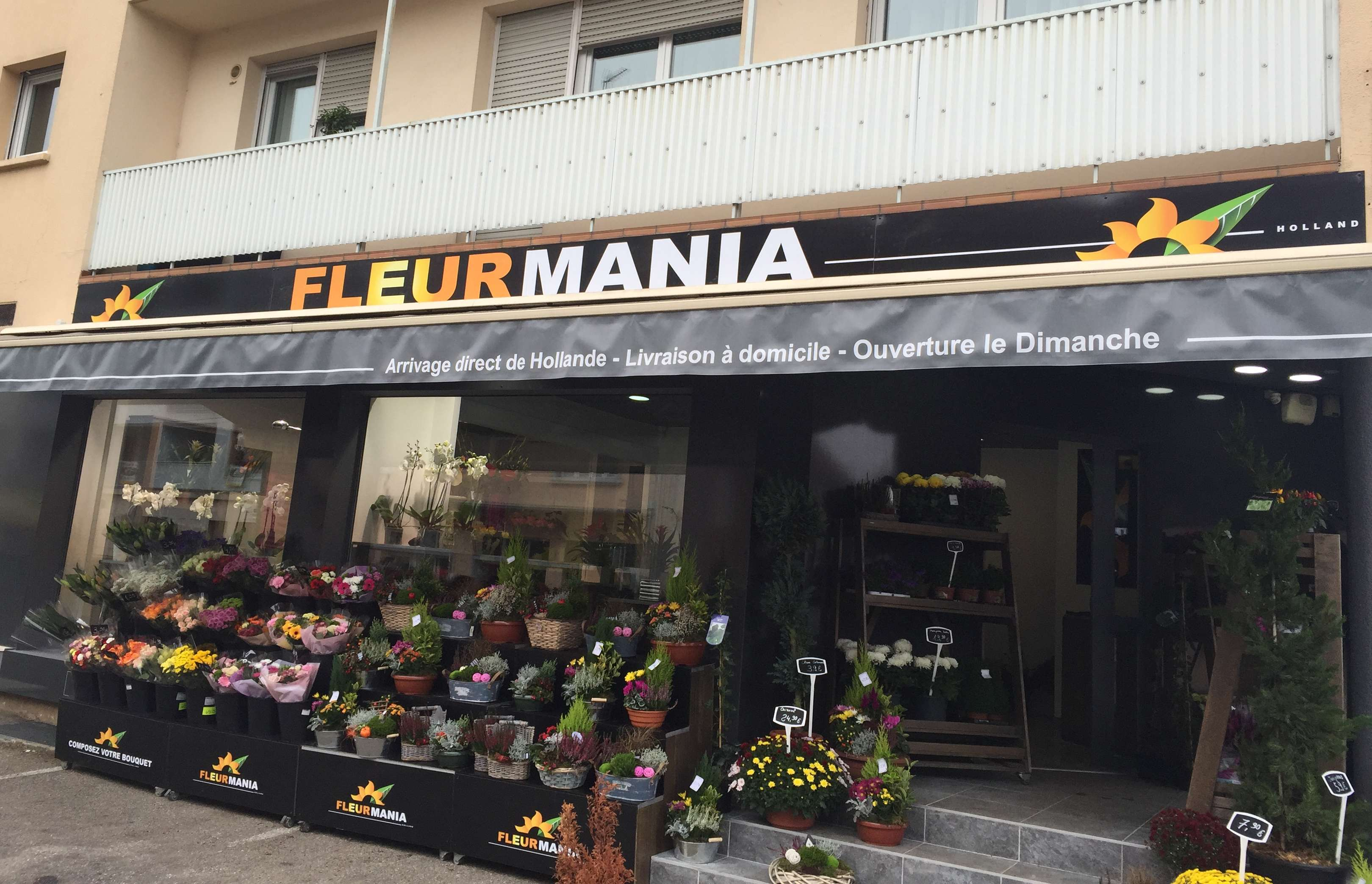 Fleurmania – Enseigne